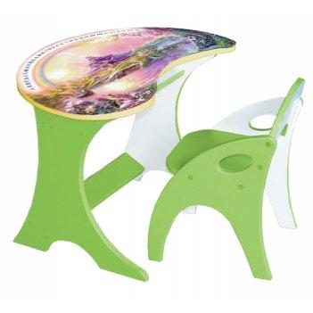 Набор мебели капелька, столик и стульчик, цвет эвкалипт, космошкола