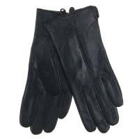 Перчатки женские collorista р-р 24-7 полоска черные, натуральная кожа