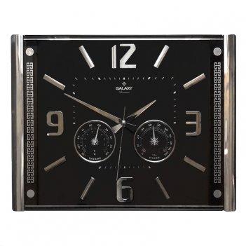 Настенные цифровые часы galaxy 707-s с термометром и гигрометром