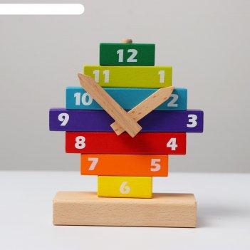 Развивающая игрушка часы конструктор 4,5х13х16,5 см