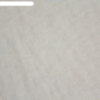 Ткань плательная, креп-шифон гладкокрашеный, ширина 150 см, молочный, rh 1