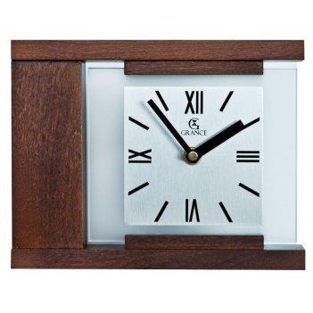 Настольные часы k-03  темный орех 210х170х55 мм