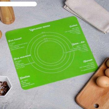 Силиконовый коврик для выпечки «идеальное тесто», 29 х 26 см