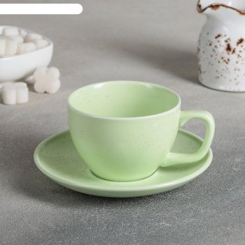 Чайная пара амелия, чашка 11,2x8,8x6 см, 200 мл, блюдце 14,2x2 см, цвет зе