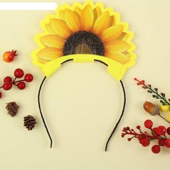 Ободок солнечный фетр