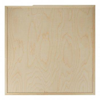 Планшет деревянный, с врезанной фанерой, 70 х 70 х 3,5 см, глубина 0.5 см,