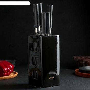 Набор ножей keiko, 5 предметов, с универсальным керамическим блоком