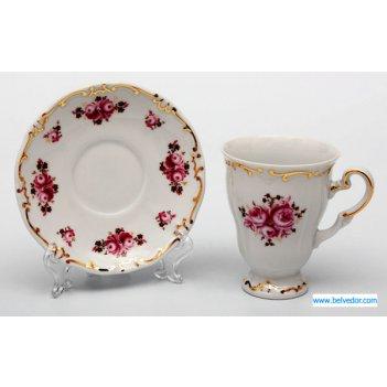Набор для каппучино роза 101(чашка260мл.+блюдце)