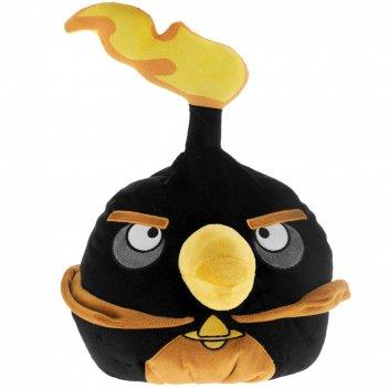 Angry birds space декоративная подушка чёрная птица black firebomb bird 25