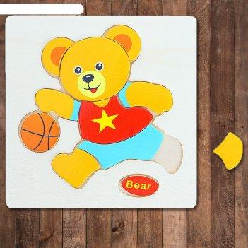 Пазл - малыш медвежонок, 10 элементов