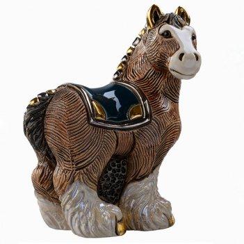 Статуэтка лошадь тяжеловоз