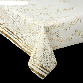 Клеенка столовая на ткани, ширина 137 см (рулон 20 метров)