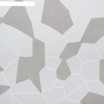 Тюль этель абстракция (цвет серый) без утяжелителя, ширина 135 см, высота