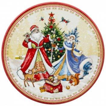 Подставка под горячее коллекция с новым годом! диаметр=10,3 см