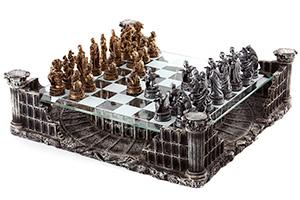 Шахматы полистоун колизей на тематической доске 42х42см