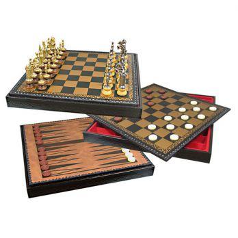 Шахматы-шашки-нарды «король артур» 45х45см