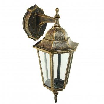 Светильник tdm 6060-12 садово-парковый шестигранник, 60вт, вниз, бронза