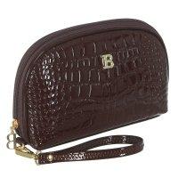 Косметичка п/овал, l-к211, 23*4*15см, 4отд, н/карман, с ручкой, коричневый