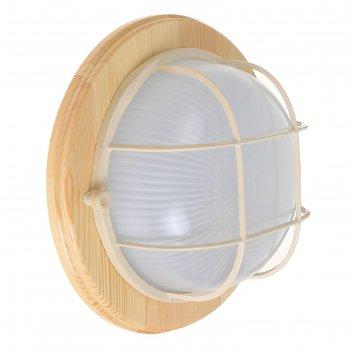 Светильник для бани/сауны italmac termo 60 01 18, 60 вт, ip54, цвет береза