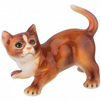 Декоративное изделие рыжий котенок высота=17 см