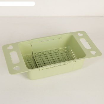 Корзина для сушки на раковину, раздвижная 36,8x18x7,5 см, цвет микс