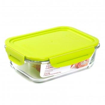 Стеклянный контейнер oursson, 1 л, зелёный