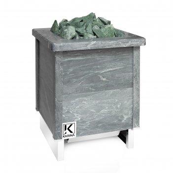 Электрическая печь karina quadro 15, нержавеющая сталь, камень талькохлори