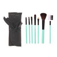 Набор для макияжа 7 предметов, в футляре на завязках, черный