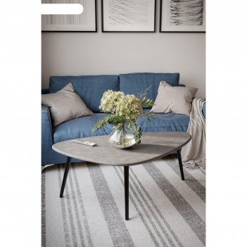 Стол журнальный «эланд», 1200 x 700 x 460 мм, цвет серый бетон