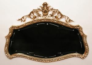 Зеркало большое из бронзы горизонтальное virtus золото 75х102см 8320