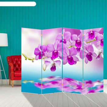 Ширма нежная орхидея, 200 x 160 см