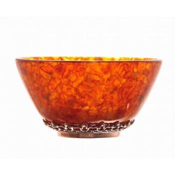 Пиала в бронзе  ( посуда из янтаря )