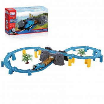 Железная дорога скорый поезд, работает от батареек, свет и звук