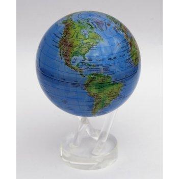 Глобус мобиле d16,5 см с общегеографической  картой мира