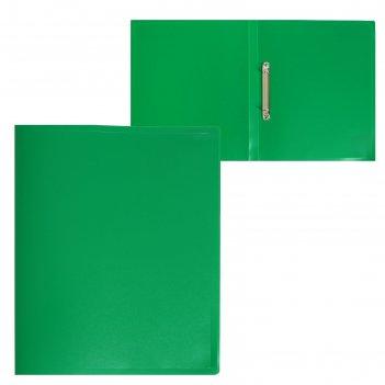 Папка на 2 кольцах а4 пластиковая, 18 мм, 500 мкм, calligrata, зеленый пес