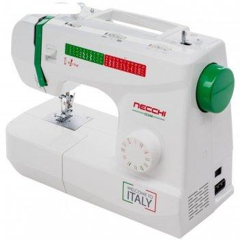Швейная машина necchi 5534, 70 вт, 23 операций, автомат, бело-зелёная