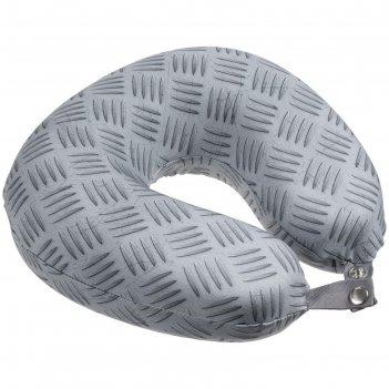 Подушка дорожная hard work, размер 30x9x28 см, цвет серый