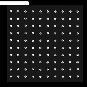 Стразы на тело круг, d=2мм, цвет белый