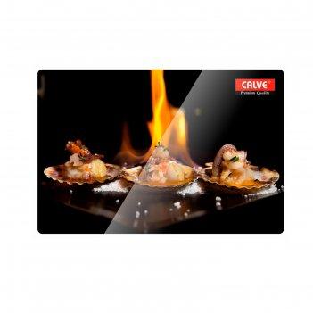 Доска разделочная «пламя» 20x30 см, стеклянная
