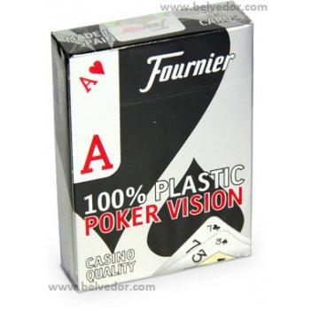 Карты игральные fournier poker vision 100% пластик