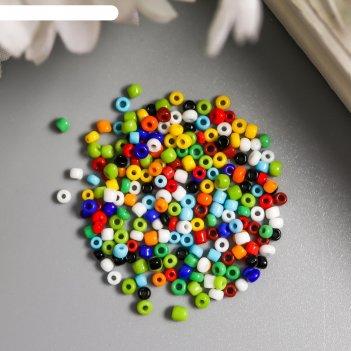 Бисер астра  11/0, 20 гр (51 разноцветный/непрозрачный)
