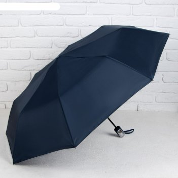 Зонт полуавтомат однотонный, цвет синий