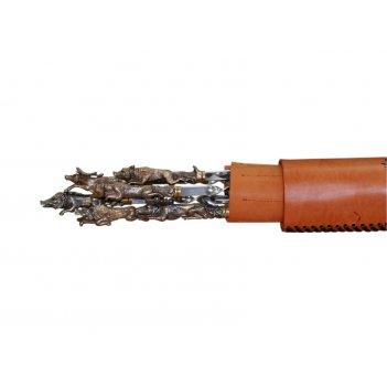 Тубус с шампурами (рисунок) из нержавеющей стали, из латуни (звери)