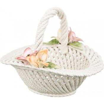 Изделие декоративное корзина с цветами 24*24*20 см. (кор=1шт.)