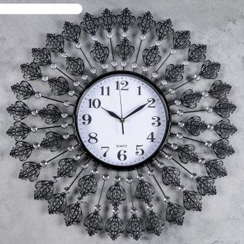 Часы настенные, серия: ажур, сияние страх, d=58 см