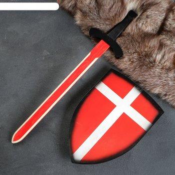Сувенир деревянный набор рыцаря, щит- 28х41 см, меч- 75х17 см