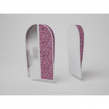 Чехол объемный для одежды малый «зефирка», 50х80х10 см