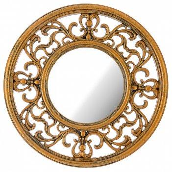 Зеркало настенное italian style 31 см цвет: золото (кор=6шт.)