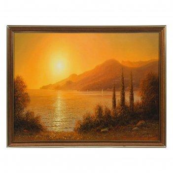 Картина закат у моря