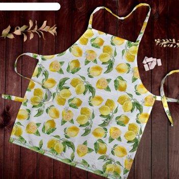 Фартук этель лимоны 60х65 см см, 100% хл, репс 190 гр/м2